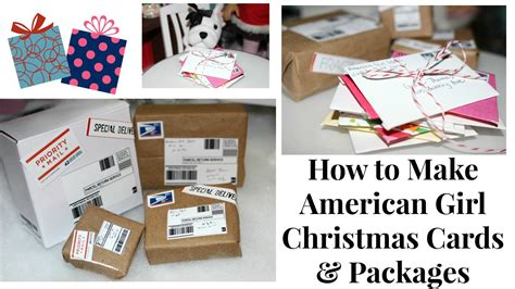 how to make q cards diy american doll packages letters