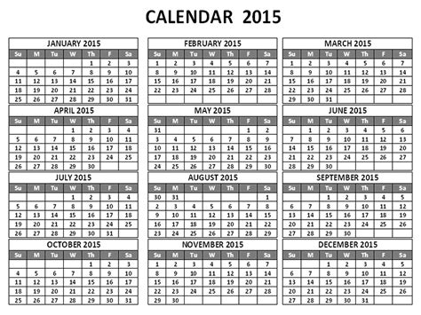 2015 calendar by month calendar template 2016