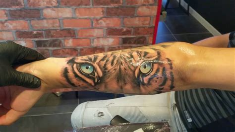 blue tiger tattoo blue tiger on forearm