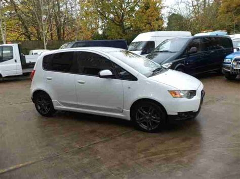 mitsubishi car white mitsubishi colt 1 5 ralliart 5dr in white car for sale