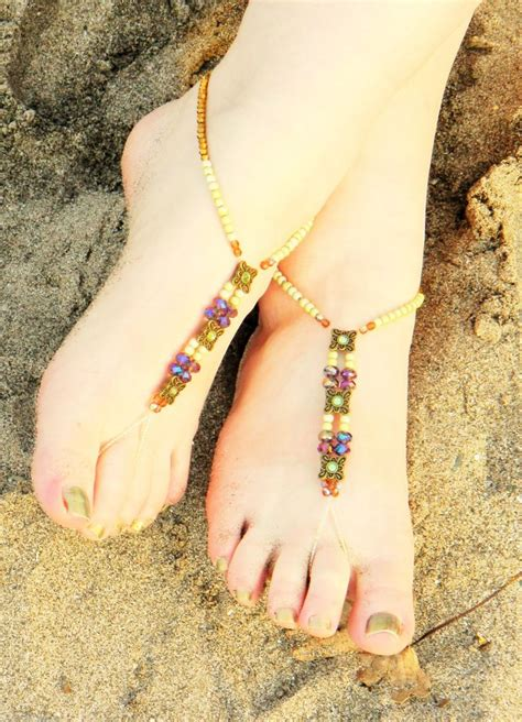 how to make beaded footless sandals size 9 footless sandals beaded barefoot sandals