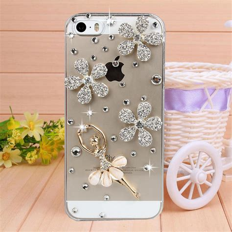 Handmade Mobile Phone Covers - handmade ballet rhinestone cover for
