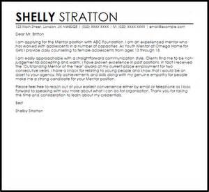 mentor cover letter sle livecareer