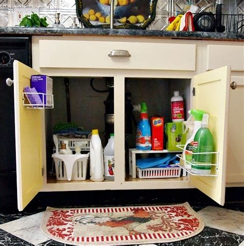 great idea for supplies under the kitchen sink too 10 easy storage ideas for small spaces