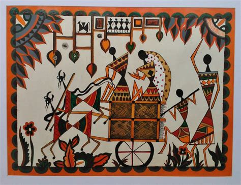 Paint By Number Wall Murals buy warli king and queen original acrylic painting on