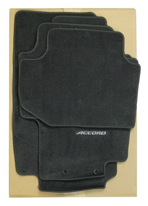 premium oem logo floor mats set dark charcoal carpet for honda accord coupe ebay
