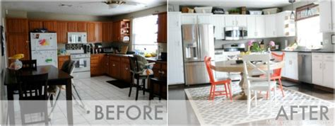 before after kitchen remodel for under 65 budget friendly modern white kitchen renovation home tour