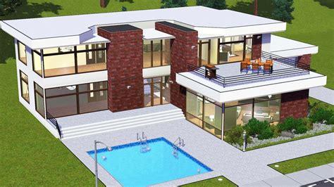 modern glass house floor plans modern house floor plans sims mod white glass house