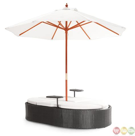 zuo modern outdoor furniture hton espresso chaise lounge zuo modern 701191