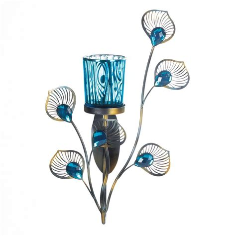peacock home decor wholesale peacock inspired single sconce wholesale at koehler home decor