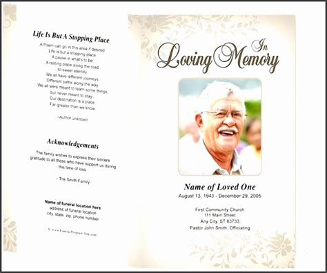9 Ready To Use Funeral Program Template Sletemplatess Sletemplatess Funeral Flyer Template Word