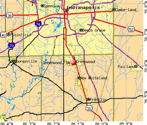 map of greenwood indiana indiana map