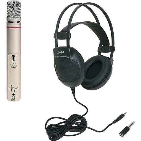 Headset Akg K44 akg c 1000 s condenser mic and k44 headphone package musician s friend