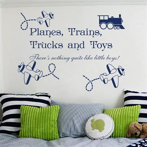decorating the dorchester way planes trains and kids room wall sticker wall decal quotes planes trains