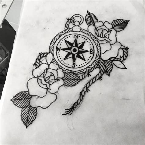 compass rose tattoo traditional on instagram compass tattoo compasstattoo traditional on instagram