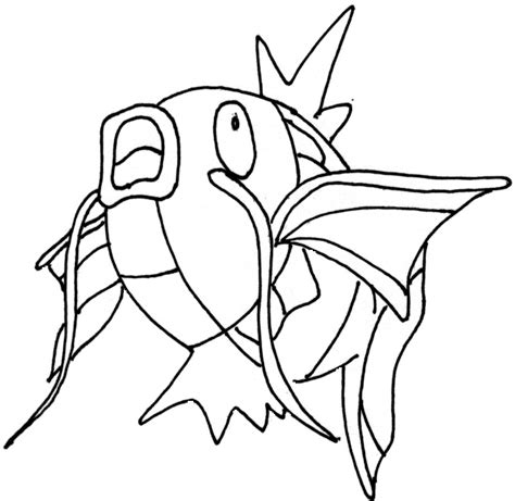 pokemon coloring pages magikarp coloring pages