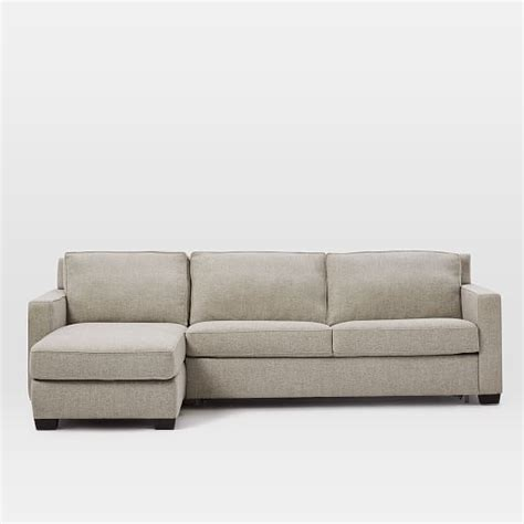 henry sectional henry 174 2 piece chaise sectional gravel twill west elm