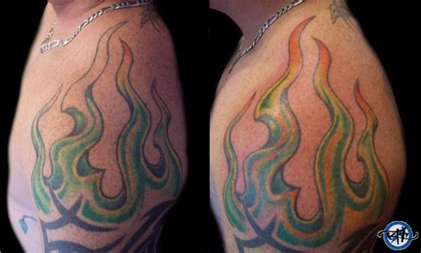 up in flames tattoo flames touch up picture