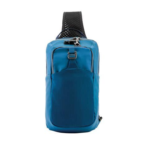 Sling The A X S anti theft waistpack venturesafe 174 x in blue steel