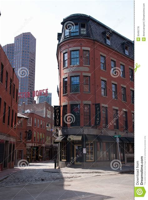 Red Brick Buildings In North End Editorial Stock Photo
