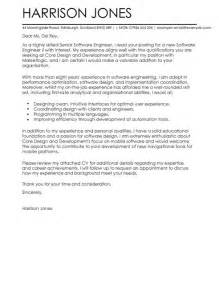 Cover Letter For Programmer by Software Engineer Cover Letter Exles For Engineering Livecareer