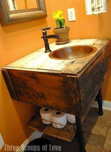 Make Your Own Vanity 12 Inventive Bathroom Rehabs Wood Make Your Own Bathroom Vanity