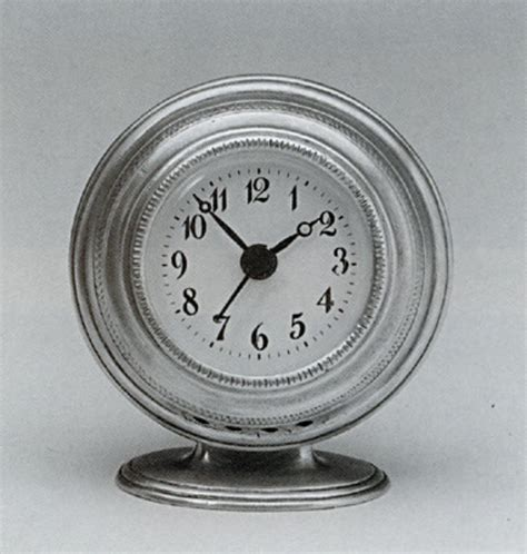pewter alarm clock italian handmade pewter home ornaments authentic reproduction antique