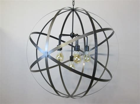 Industrial 30 Inch Orb Chandelier Ceiling Light Sphere Wine Wine Sphere Chandelier