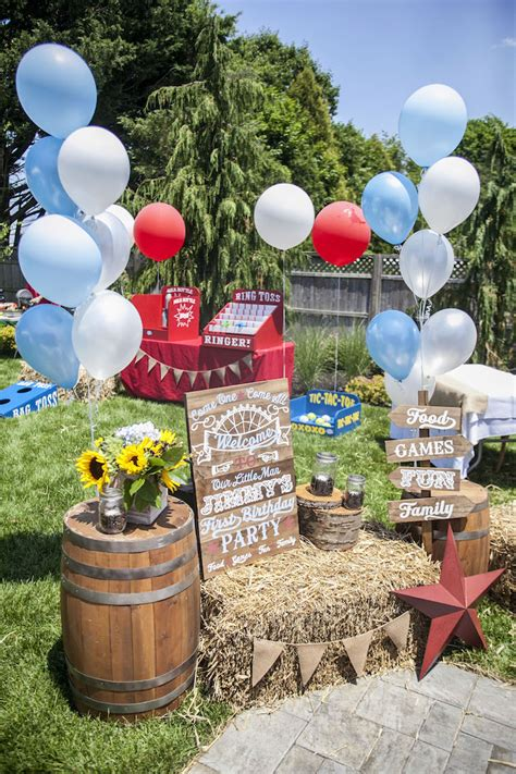 karas party ideas rustic county fair birthday party