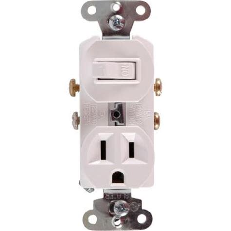 ge all in one toggle switch and single pole outlet white
