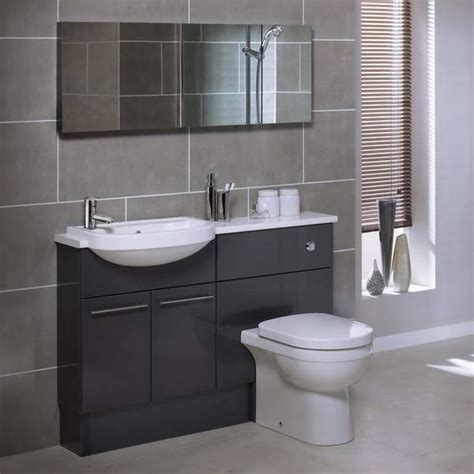 grey bathroom furniture gray bathroom utopia funiture 187 midnight grey gloss for the home grey