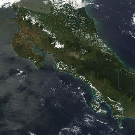 Imagenes Satelitales Costa Rica | satellite image photo of costa rica central america