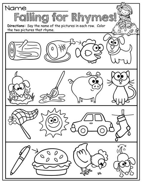 printable preschool rhyming worksheets 14 best images about rhyming worksheets on pinterest