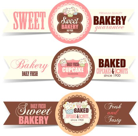 design banner bakery sweet bakery badge vector banners 01 vector banner