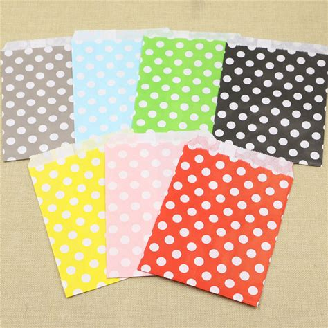Iphone Home Button Decoration gift bags 25pcs red polka dot spotty paper bag without