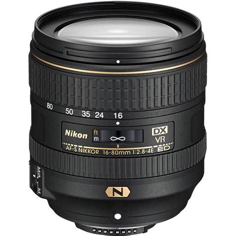 nikon dx nikon af s dx nikkor 16 80mm f 2 8 4e ed vr lens 20055 b h