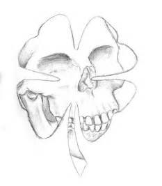 clover skull tattoo sketch by squeakychewtoy on deviantart