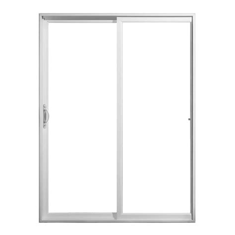60 Sliding Patio Door by Jeld Wen 60 In X 80 In V 2500 Series Sliding Vinyl Patio