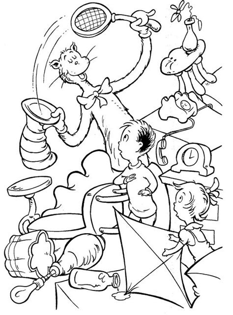 free coloring pages of thing1 and thing2