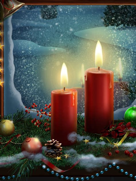 wallpaper christmas decoration candle lights celebrations christmas  wallpaper