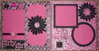 layout girly scrapbook layout