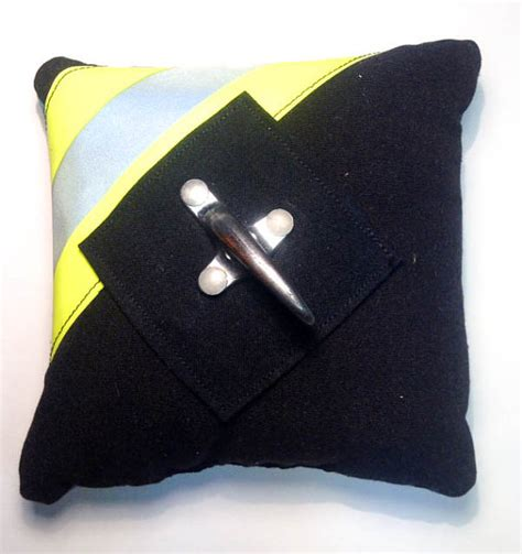 Firefighter Ring Bearer Pillow by Firefighter Wedding Ring Pillow Black Turnouts By
