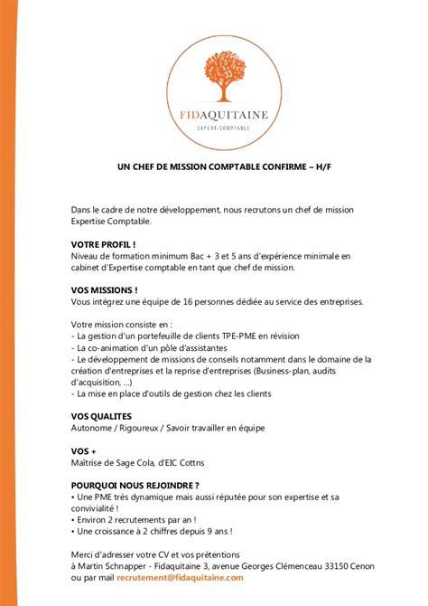 Chef De Mission Cabinet Comptable by Chef De Mission Cabinet Comptable