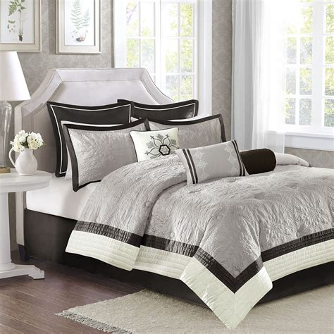 madison park juliana 9 piece charmeuse comforter set