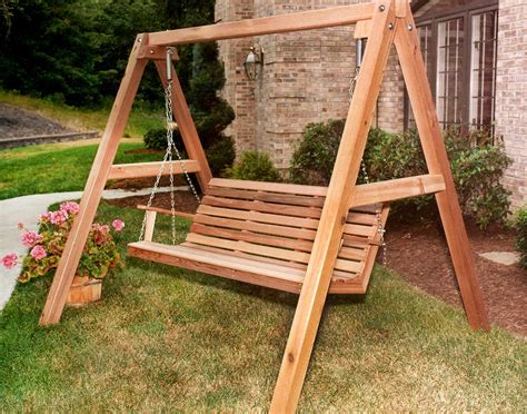 porch swing with stand red cedar american classic porch swing w stand