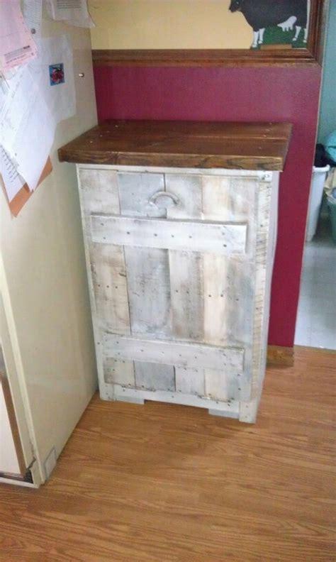 diy pallet trash can cabinet pallet board used to make a trash can cabinet kathi