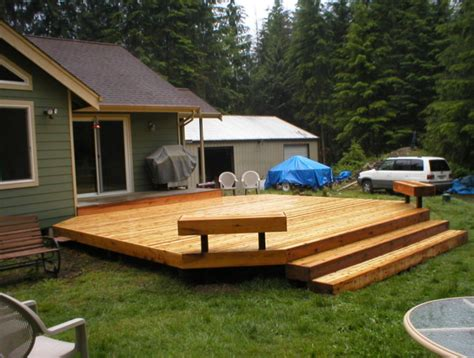 simple deck bench jw construction photo gallery simple cedar deck with