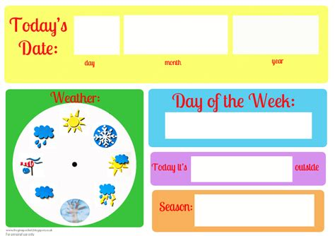 Calendar Weather Frog In A Pocket Calendar And Weather Board Printables