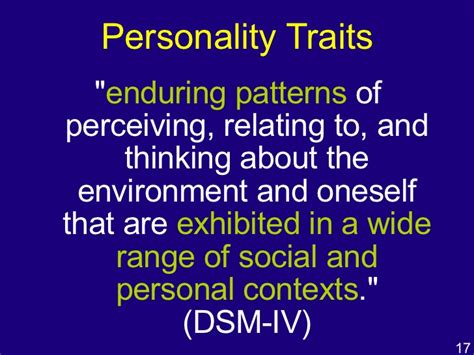 enduring pattern meaning personality dispositional perspectives