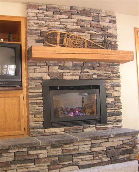 Red Brick Wall For Living Room Fireplace White Stone